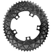 AbsoluteBLACK Shimano 5 Bolt Oval Road Chainring - 39T - 5 Bolt 130BCD - Black