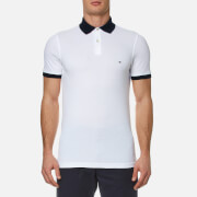 Tommy Hilfiger Men's Contrast Collar Polo Shirt - White