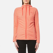 The North Face Women's Mezzaluna Full Zip Hoody - Cayenne Red Stripe