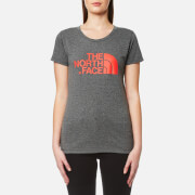 The North Face Women's Easy T-Shirt - Medium Grey/Cayenne Red