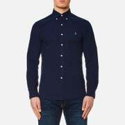 Polo Ralph Lauren Men's Garment Overdye Slim Fit Shirt - Blue