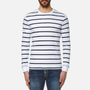 Polo Ralph Lauren Men's Long Sleeve Striped T-Shirt - White/Navy