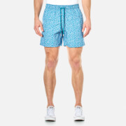 Vilebrequin Men's Moorea Micro Turtles Swim Shorts - Prussian Blue