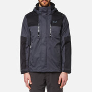 Jack Wolfskin Men's Jasper Flex Hooded Jacket - Ebony
