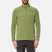 Jack Wolfskin Men's Gecko Quarter Zip Fleece - Khaki