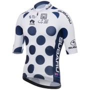 Santini Tour Down Under King Of The Mountain Short Sleeve Aero Jersey 2017 - White/Blue