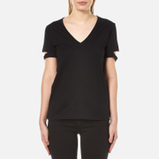 Helmut Lang Women's V-Neck Slash T-Shirt - Black