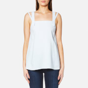 Helmut Lang Women's Cross Back Top - Aqua - S - Blue