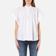 Helmut Lang Women's Short Sleeve Shirt - Optic White - L - White