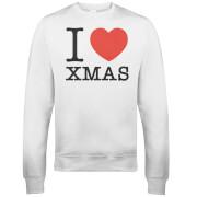 I Heart Xmas Christmas Sweatshirt - Weiß