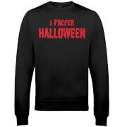 I Prefer Halloween Christmas Sweatshirt - Black