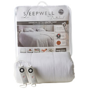 Dreamland Sleepwell 16329 Intelliheat Luxury Heated Cotton Duvet - White - Dual Double