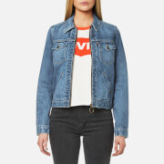 Levi's Women's Orange Tab Ot Zip Front Trucker Jacket - Kauai
