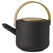 Stelton 1.25L Theo Teapot  Black