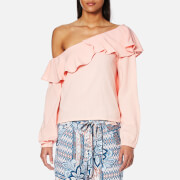 MINKPINK Women's On the Sly One Shoulder Top - Blush