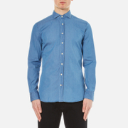 Hackett London Men's Plain Twill Denim Shirt - Denim