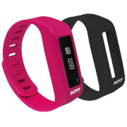 Xtreme Cables Xfit Bluetooth Water Resistant Fitness Tracker and Watch (Two Straps) - Pink/Black