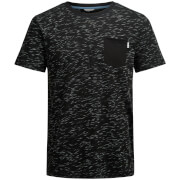 Camiseta Jack & Jones Core Inject - Hombre - Negro jaspeado