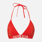 Calvin Klein Women's Triangle Bikini Top - Fiery Red