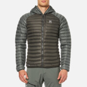 Haglofs Men's Essens Mimic Hooded Jacket - Beluga/Lite Beluga
