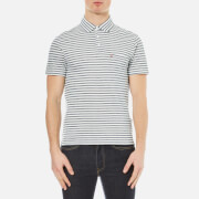 Levi's Men's Short Sleeve Sunset Polo Shirt - Indigo Pique Stripe