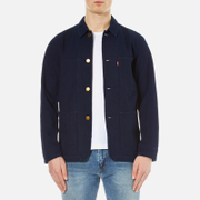 Levi's Men's New Engineers Coat - Indigo Herringbone Rinse