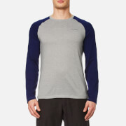 Craghoppers Men's NosiLife Bayame Long Sleeve T-Shirt - Soft Grey Marl/Night Blue