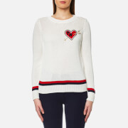Tommy Hilfiger Women's Estro Tipping Sweatshirt - Snow White