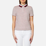 Tommy Hilfiger Women's Tricia Polo Shirt - Classic White/Fiery Red