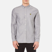 Lyle & Scott Men's Twill Mouline Long Sleeve Shirt - Light Grey Marl