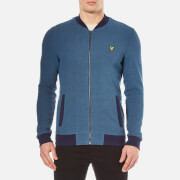 Lyle & Scott Men's Pique Bomber Jacket - Navy