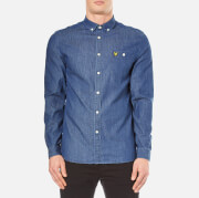 Lyle & Scott Men's Denim Long Sleeve Shirt - Light Indigo
