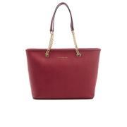 MICHAEL MICHAEL KORS Women's Jet Set Travel Chain Top Zip Tote Bag - Cherry
