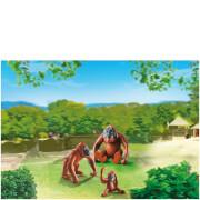Deux orangs-outangs avec bébé -Playmobil (6648)