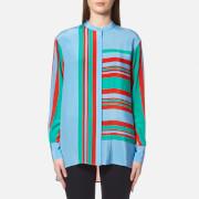 Diane von Furstenberg Women's Long Sleeve Oversized Shirt - Borel - M - Multi