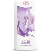 Купить Оттеночная краска для волос (яркий блонд золотистый сандрэ) Wella Color Fresh Lightest Gold Central Blonde 10/39 75 мл
