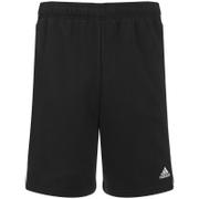 adidas Mens Essential 3 Stripe Fleece Jog Shorts  Black  S