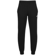adidas Mens Essential Logo Cuffed Fleece Sweatpants  Black  S