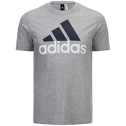 T-Shirt Homme Essential Big Logo adidas -Gris Chiné