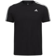 Camiseta Adidas Essentials 3 Bandas - Hombre - Negro