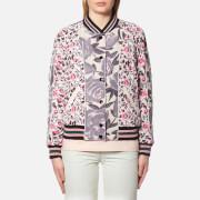 Coach Women's Reversible Satin Varsity Jacket - Shell Multi