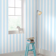 Superfresco Easy Kids' Pastel Blue Stripe Wallpaper