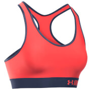 Under Armour Women's Mid Solid Sports Bra - Pomegranate