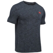 Under Armour Men's Threadborne Seamless T-Shirt - Stealth Grey/Phoenix Fire