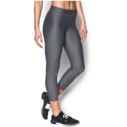 Under Armour Women's HeatGear Armour Ankle Crop Capri Tights - Carbon Heather