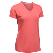 Under Armour Women's Threadborne Train Twist V-Neck T-Shirt - Pomegranate