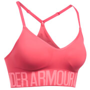 Under Armour Womens HeatGear Seamless Sports Bra  Perfection Pink  L