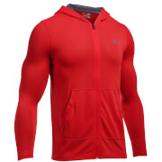 Under Armour Men's Threadborne Fitted Full Zip Hoody - Red