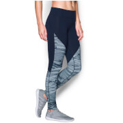 Under Armour Women's Mirror Printed Studio Tights - Midnight Navy