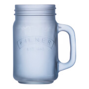 Kilner Frosted Handled Jar - Blue 0.4L